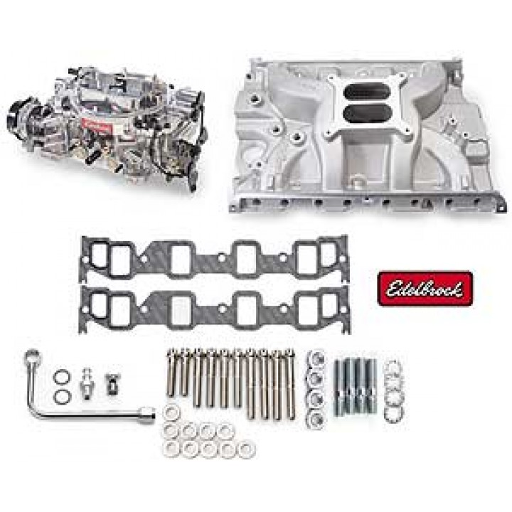 Edelbrock 2037 - Single-Quad Intake Manifold and Carb Kits