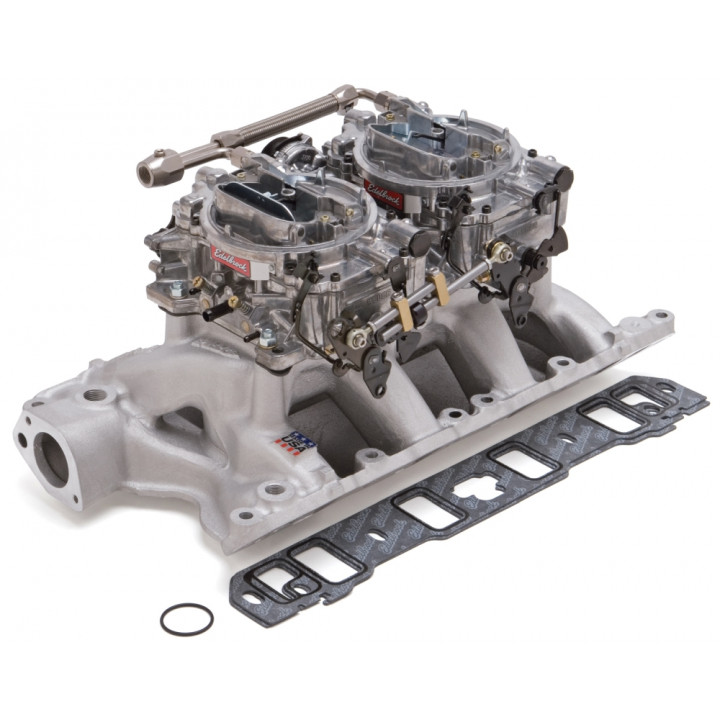 Edelbrock 2085 - Performer RPM Dual Quad Air-Gap Manifold and Carburetor Kits