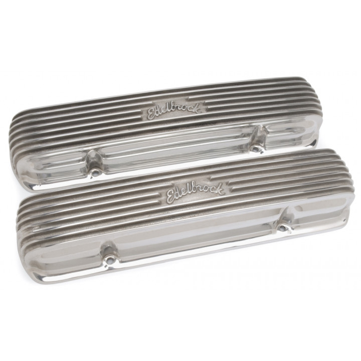 Edelbrock 4130 - Classic Cast Aluminum Valve Covers