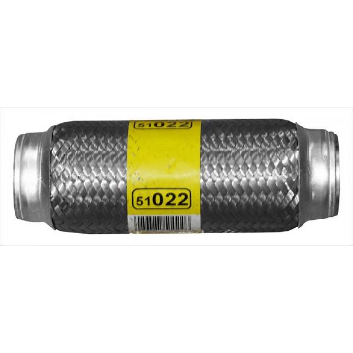 "DynoMax 51022 - Flex Connector w/o Bushings 2"" ID Inlet Outlet x 8"" OAL"