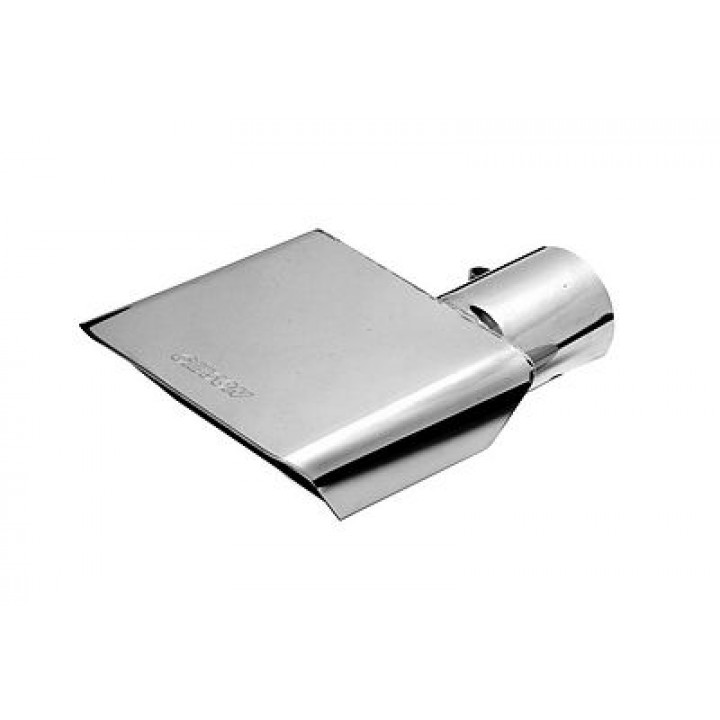 "Gibson 500366 - Polished Stainless Steel Exhaust Tip - 2.5"" Inlet/6"" x 2.75"" Outlet - 6"" Length"