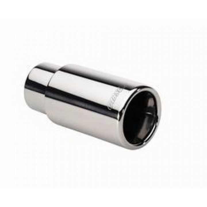 "Gibson 500375 - Polished Stainless Steel Exhaust Tip - 4"" Round Rolled Edge Tip - 2.5"" Inlet/4"" Outlet - 6"" Length"