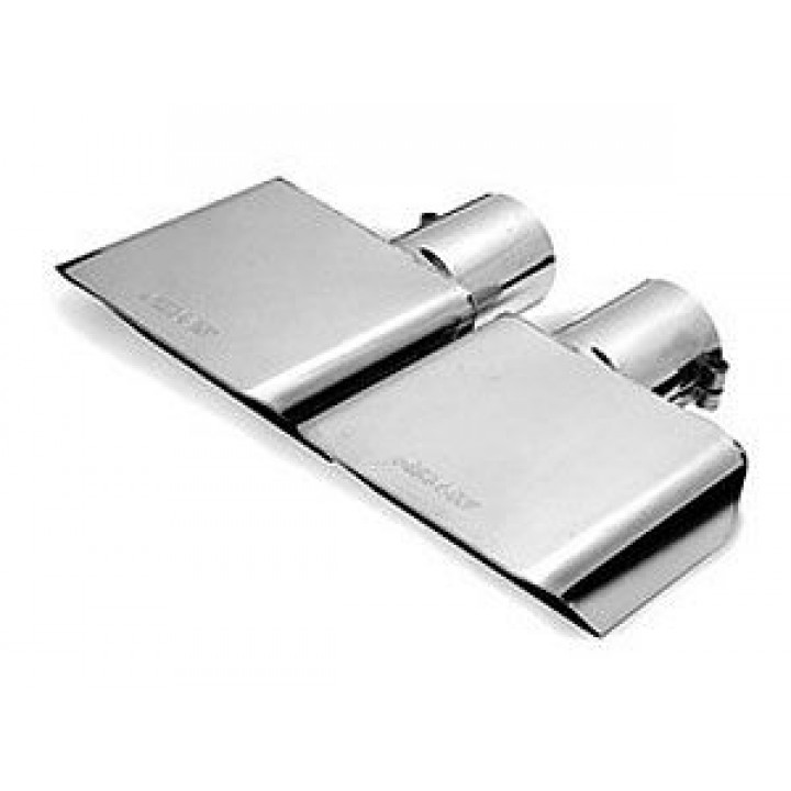 "Gibson 500430 - Polished Stainless Steel Exhaust Tip - 2"" Inlet/6"" x 2.75"" Outlet - 9.5"" Length"