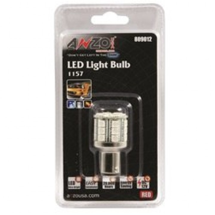 Anzo 809012 - LED Replacement Bulb - LED 1157 - Red-28 LEDs 1 3/4 in. Tall