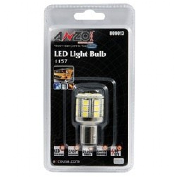 Anzo 809013 - LED Replacement Bulb - LED 1157 White-28 LEDs 1 3/4 in. Tall