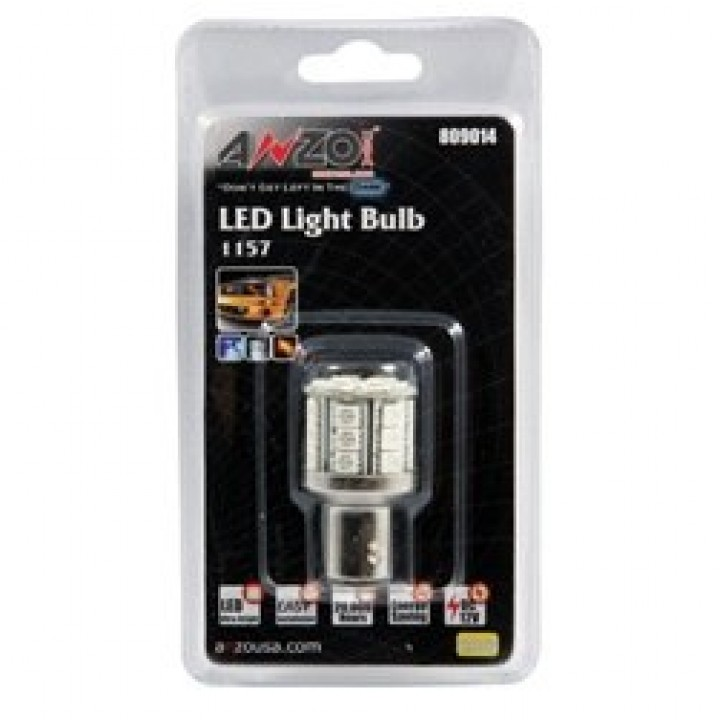 Anzo 809014 - LED Replacement Bulb - LED 1157 - Amber - 28 LEDs 1 3/4 in. Tall