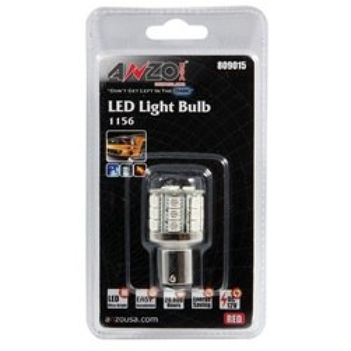 Anzo 809015 - LED Replacement Bulb - LED 1156 - Red-23 LEDs 1 3/4 in. Tall