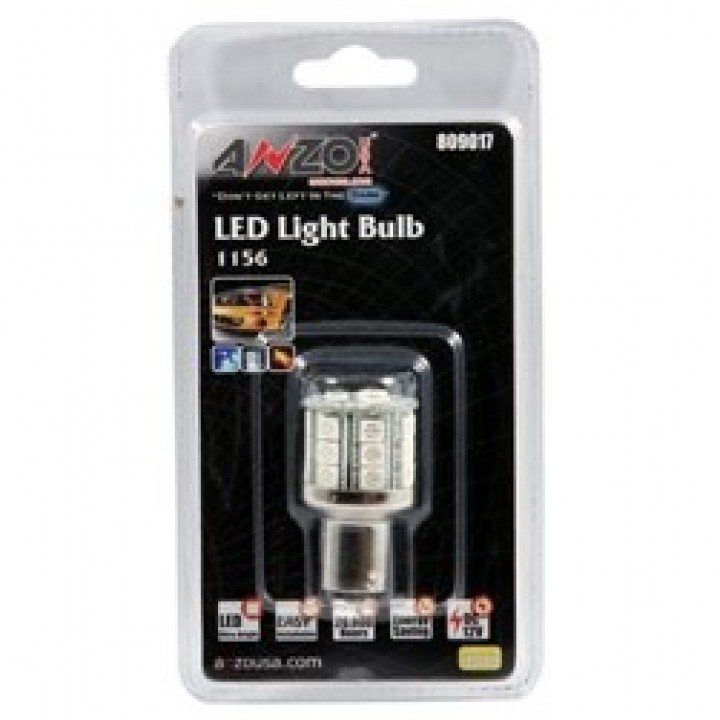 Anzo 809017 - LED Replacement Bulb - LED 1156 - Amber - 23 LEDs 1 3/4 in. Tall