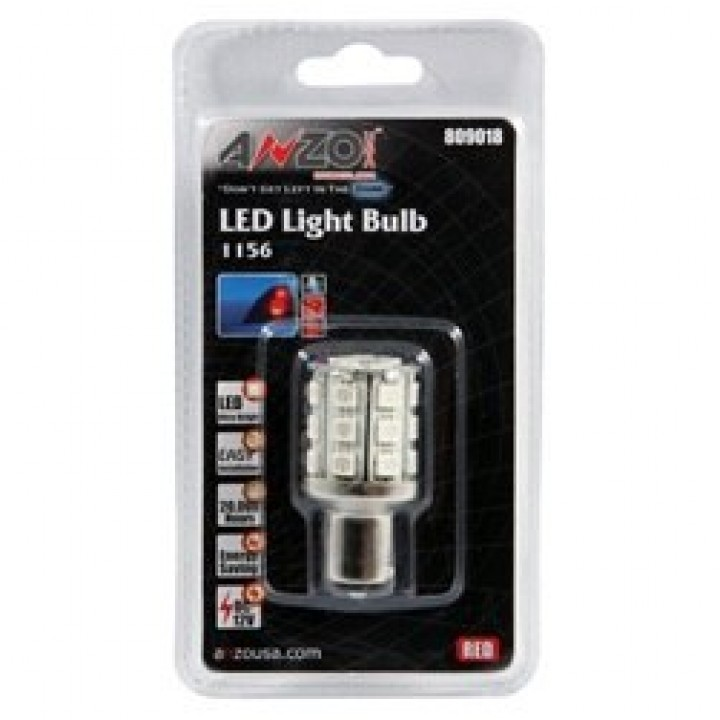 Anzo 809018 - LED Replacement Bulb - LED 1156 - Red-24 LEDs 2 in. Tall