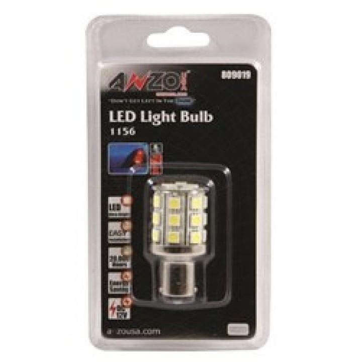 Anzo 809019 - LED Replacement Bulb - LED 1156 White-24 LEDs 2 in. Tall