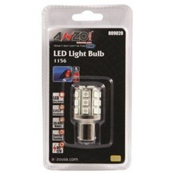 Anzo 809020 - LED Replacement Bulb - LED 1156 - Amber - 24 LEDs 2 in. Tall