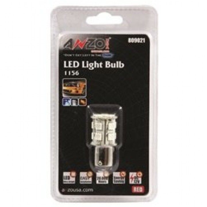 Anzo 809021 - LED Replacement Bulb - LED 1156 - Red-13 LEDs 1 3/4 in. Tall