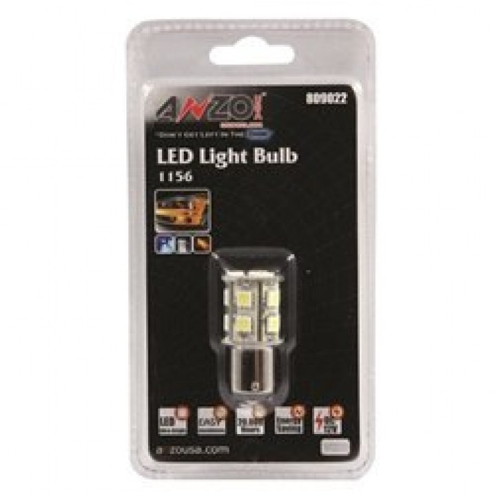 Anzo 809022 - LED Replacement Bulb - LED 1156 White-13 LEDs 1 3/4 in. Tall