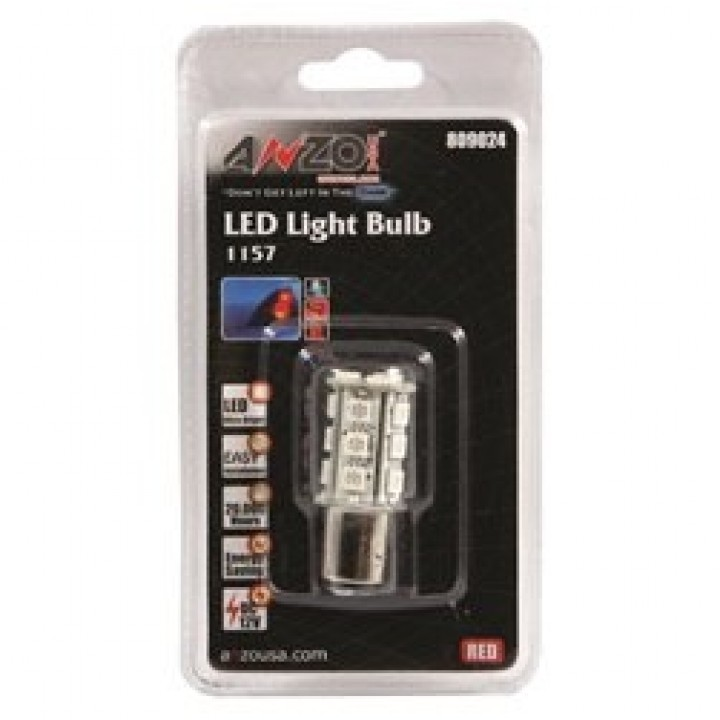 Anzo 809024 - LED Replacement Bulb - LED 1157 - Red-18 LEDs 1 3/4 in. Tall