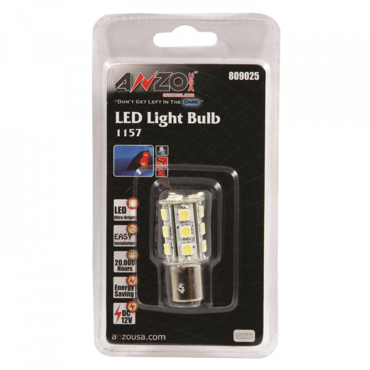 Anzo 809025 - LED Replacement Bulb - LED 1157 White-18 LEDs 1 3/4 in. Tall
