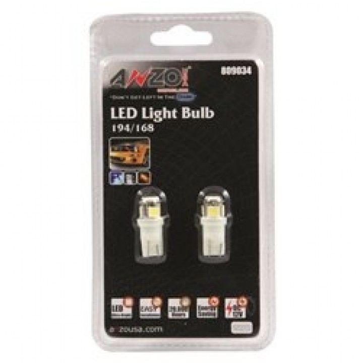 Anzo 809034 - LED Replacement Bulb - 194/168 White-4 LEDs