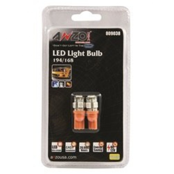 Anzo 809038 - LED Replacement Bulb - 194/168 - Amber - 5 LEDs
