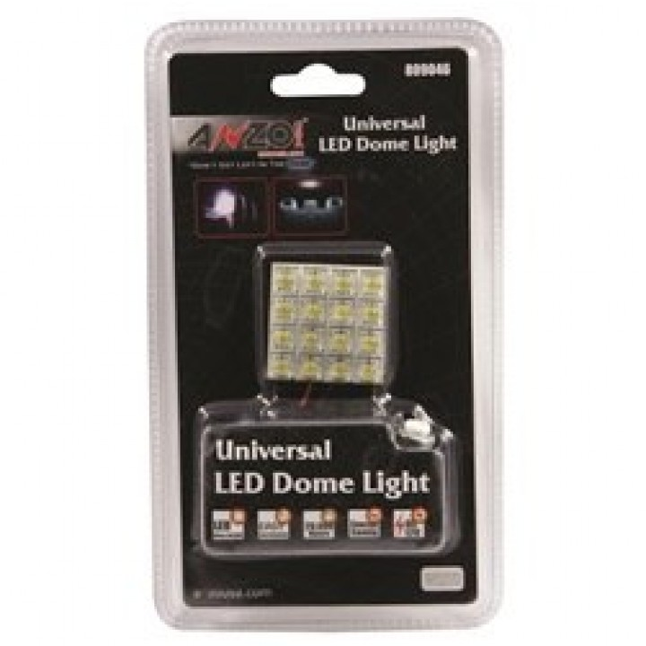 Anzo 809046 - LED Replacement Bulb - Dome Light - 16 Hi Powered LED Universal 1.25 in. X 1.25 in.