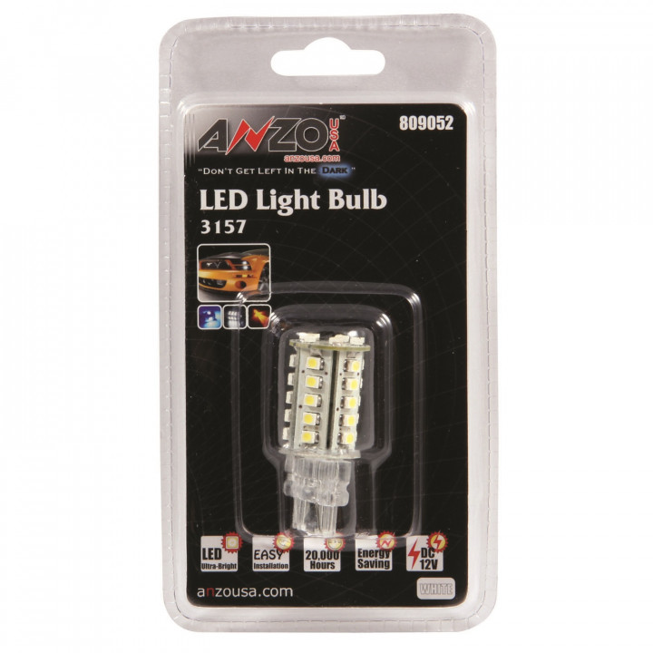 Anzo 809052 - LED Replacement Bulb - 3157 White-30 SMDs 2 in.Tall