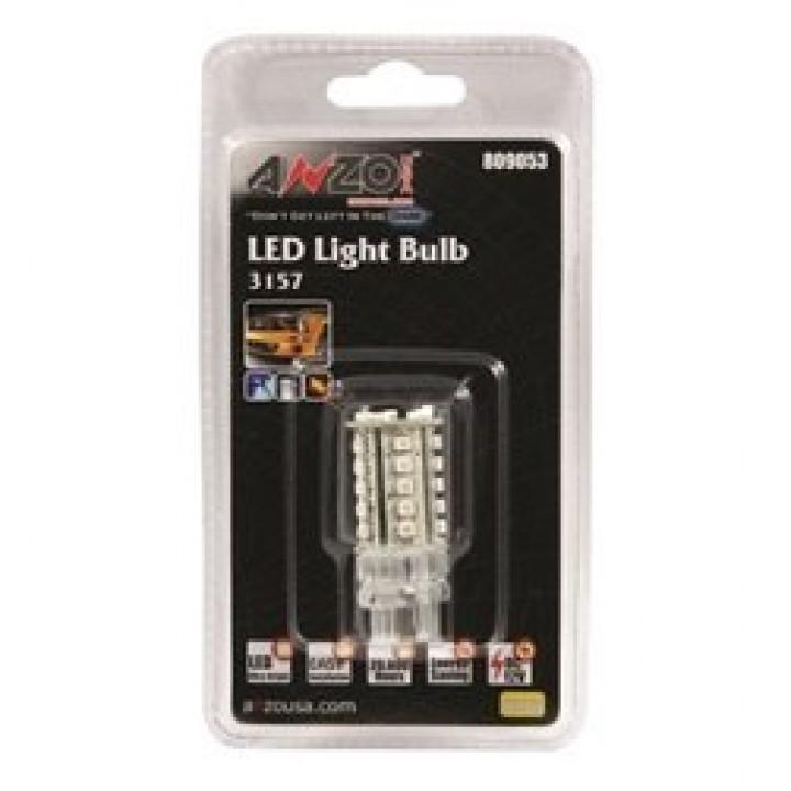 Anzo 809053 - LED Replacement Bulb - 3157 - Amber - 30 SMDs - 2 in. Tall