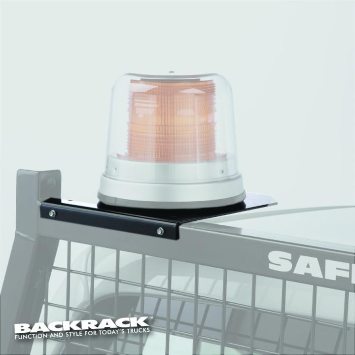 Back Rack 81004 - Headache Rack Light Mount (Use On BackRack Model Racks) - (6.5 Inch Base Safety Rack) - (Black) - (Without Light)