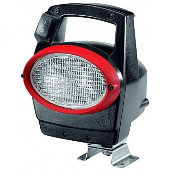 HELLA 996261551 - Oval 100 Xenon Work Lamp - Clear Lens - Close Range - 12V D1S 35W (Black Housing with Red Bezel)