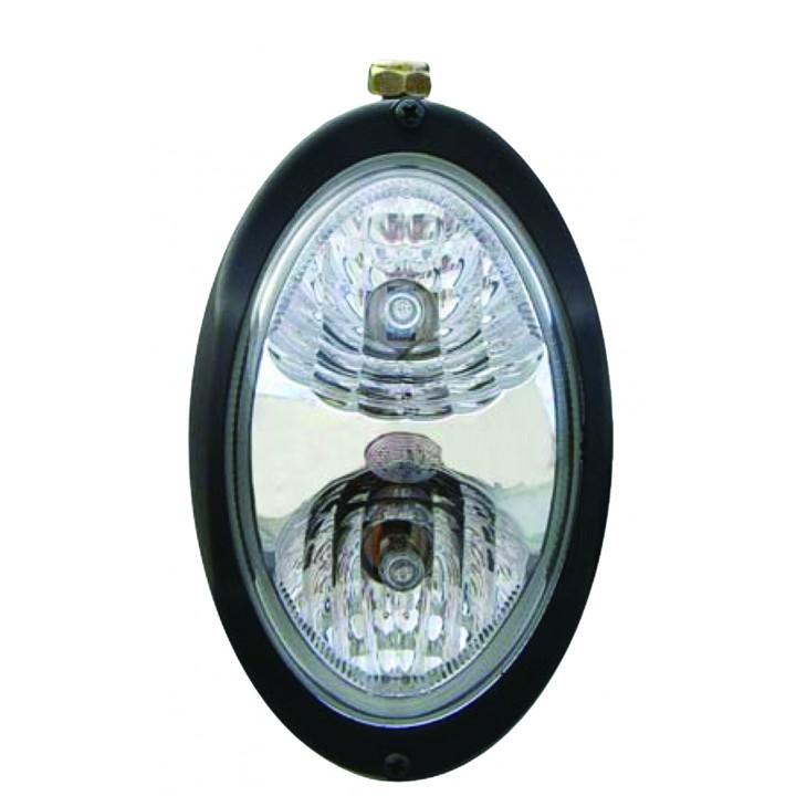 HELLA 996361461 - Oval 100 Halogen Fork Lift Work Lamp - Clear Lens Close Range - Pendant Mount - 12V ( Black Housing)