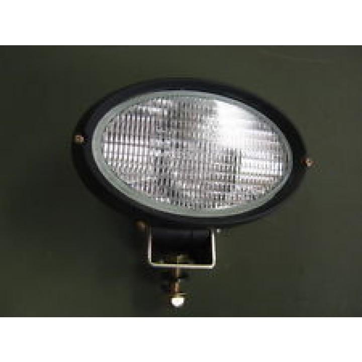 HELLA 996361617 - Oval 100 Single Beam Halogen Work Lamp - Clear Lens Close Range - Pedestal Mount - 12V (Black Housing)