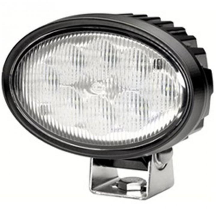 HELLA 996661001 - Oval 100 LED Work Lamp - Clear Lens Close Range - Pedestal Mount - Multivolt (Black Housing)