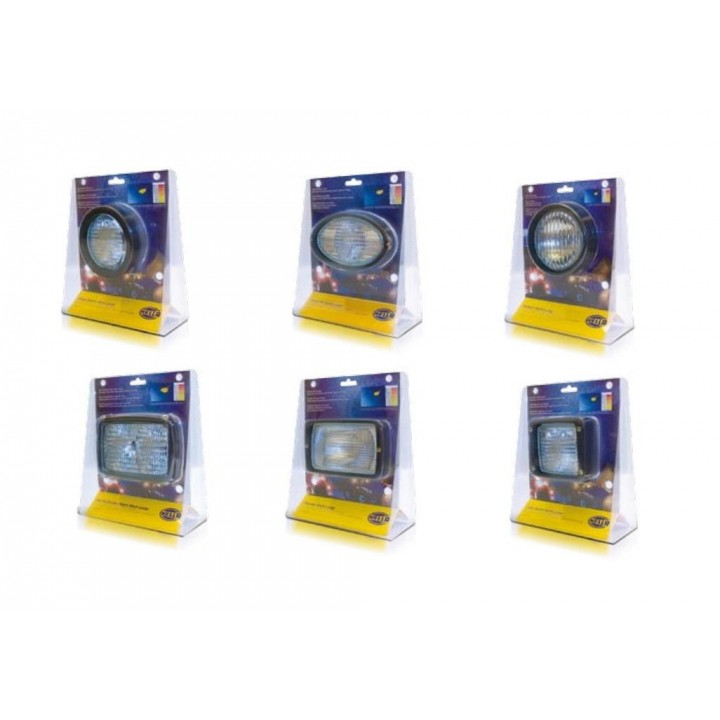 HELLA H15999005 - Oval 100 Halogen Work Lamp - Retail Promo Pack