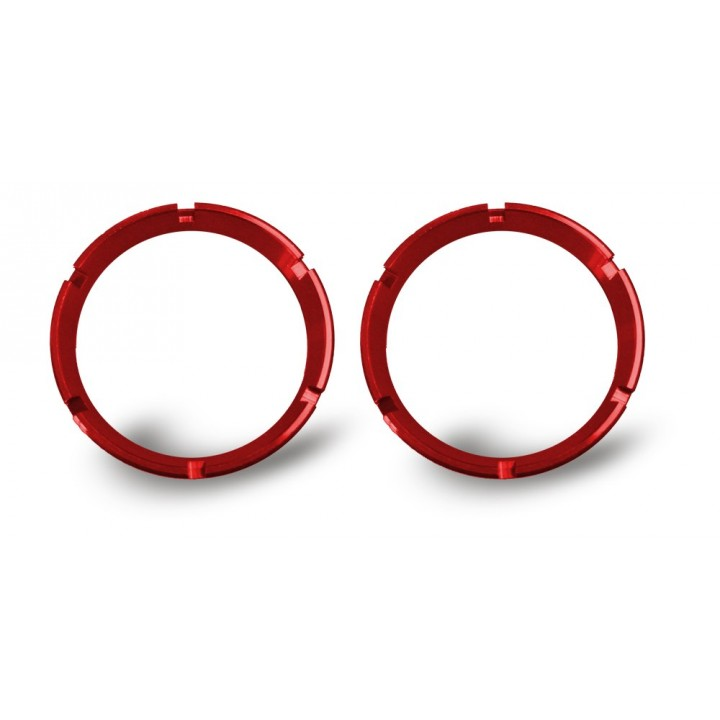 KC HiLiTES 30554 - KC Flex - Bezel Ring Red (pair)