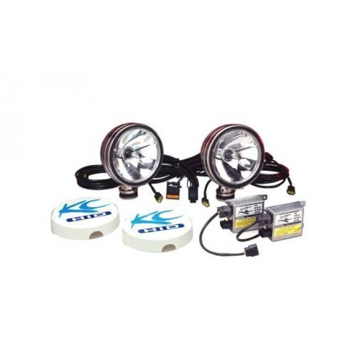 "KC HiLiTES 660 - HID - 6"" Round Long Range Stainless Steel 12v-50w (pair)"