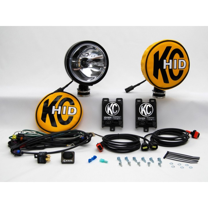 "KC HiLiTES 661 - HID - 6"" Round Long Range Black 12v-50w (pair)"