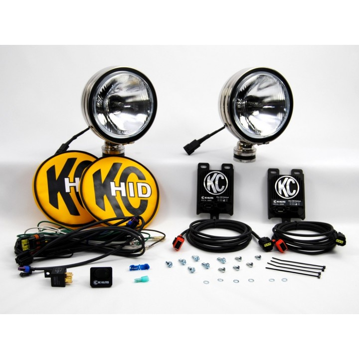 """KC HiLiTES 666 - HID - 6"""" Round Driving Stainless Steel 12v-50w (pair)"""