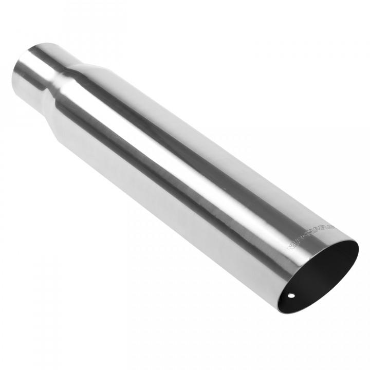 "Magnaflow 35105 - Universal Exhaust Tip - 2.5"" ID Inlet - 3.5"" Dia. Round - 18"" Long - 15 deg. Slash Cut - Polished"