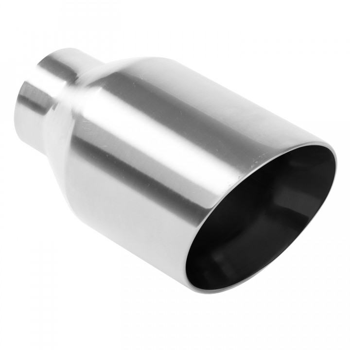"Magnaflow 35121 - Universal Exhaust Tip - 2.25""ID/4""OD Inlet - 7"" Long - 20 deg. Angle Cut - Double Wall - Weld-On - Polished"