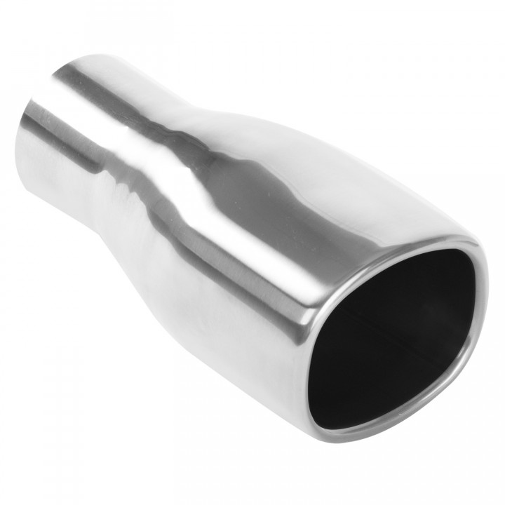 "Magnaflow 35157 - Universal Exhaust Tip - 2.25"" ID Inlet - 3"" x 3.5"" Square - 7.25"" Long - Rolled Edge - Double Wall - Polished"