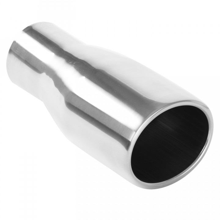 "Magnaflow 35159 - Universal Exhaust Tip - 2.25"" ID Inlet - 3"" x 4"" Oval - 7.5"" Long - Rolled Edge Angle Cut - Double Wall - Polished"
