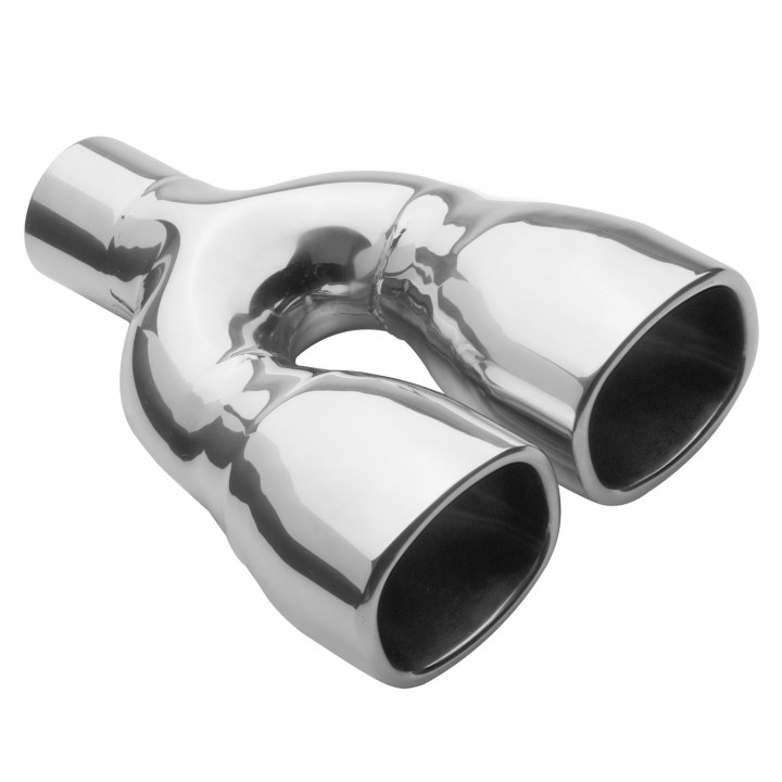 """Magnaflow 35170 - Universal Exhaust Tip - 2.25"""" ID Inlet - 3"""" x 3.5"""" Square - 10"""" Long - Rolled Edge Straight Cut - Double Wall - Polished"""