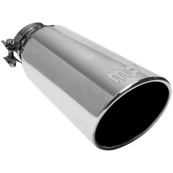 """Magnaflow 35186 - Universal Exhaust Tip - 4"""" ID Inlet - 5"""" Dia. Round - 13"""" Long"""