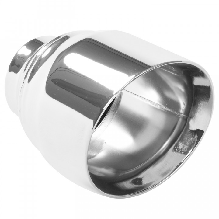 "Magnaflow 35224 - Universal Exhaust Tip - 2.5"" ID Inlet - 5.75"" Long - 15 deg. Angle Cut - Double Wall - Polished"