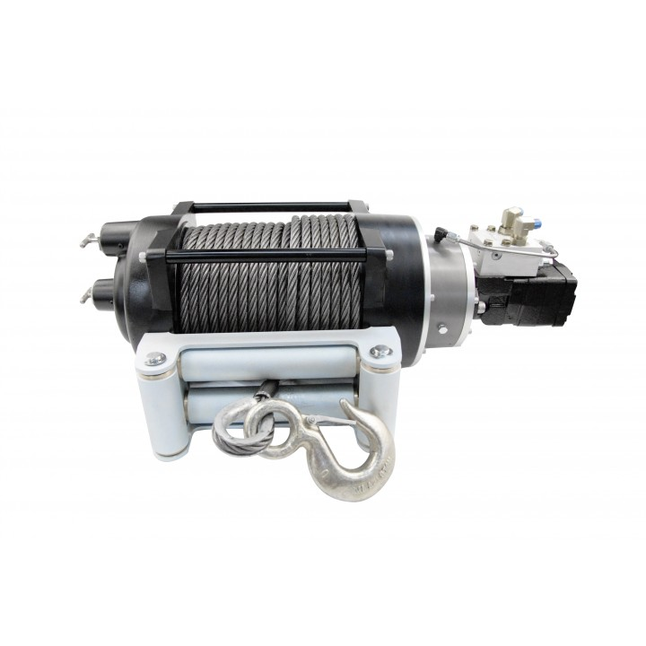 Mile Marker 70-58000C - H18K - Hydraulic Winch - 18000 lbs. Rated Line Pull - 11.9 C.I. 24V Hydraulic Motor - w/Roller Fairlead