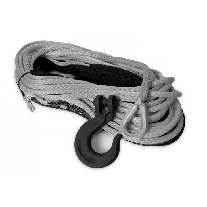 Mile Marker 19-52038-100C - Synthetic Rope Assembly - 3/8 in. x 100 ft. - 16200 lbs. Min. Break Force