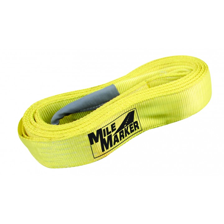 Mile Marker 19315 - ATV Tow Strap - 3 in. x 15 ft. - 30000 lb. - Yellow