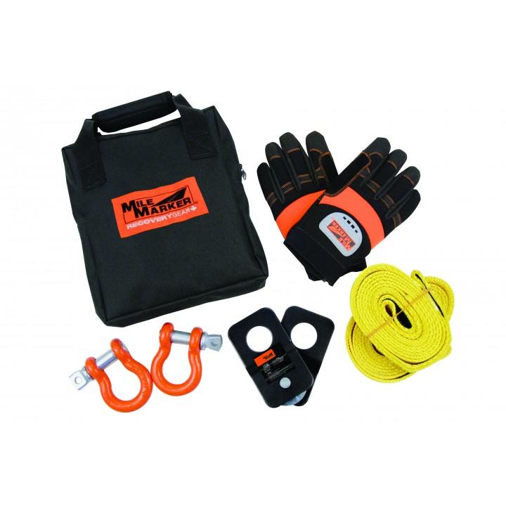 Mile Marker 19-00105 - ATV/UTV Winch Accessories Kit - ATV/UTV - Incl. Straps - Gloves - Shackels - Snatch Block