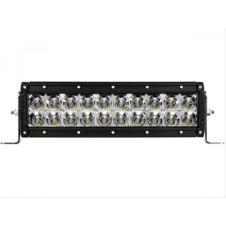 Rigid Industries 110122E - E-Series LED Light Bar - (Custom) - (Surface Mount) - (10 in.) - (For Use w/PN[40568/40569]) - (2 pc)