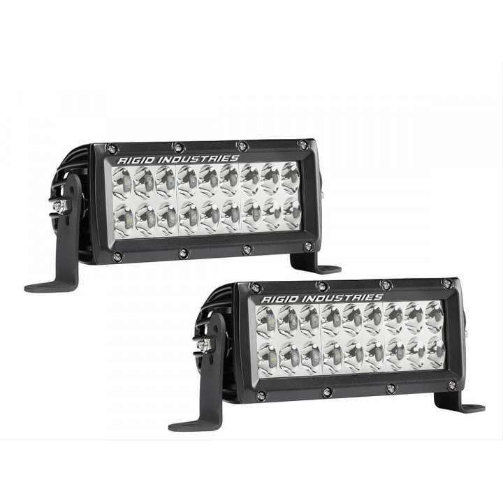 Rigid Industries 17661EM - E-Series E-Mark Certified Driving Light - (6 in.) - (Pair)