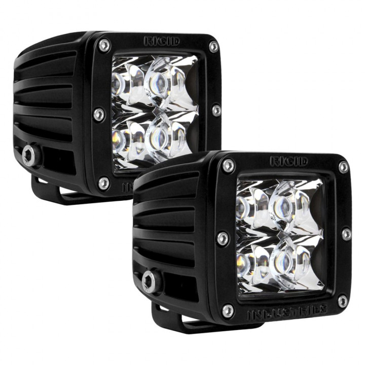 Rigid Industries 20223 - Dually - Spot - Set of 2 - Red