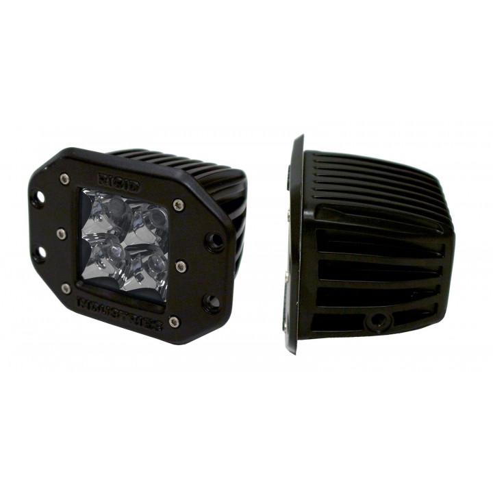 Rigid Industries 21111 - Dually - Flush Mount - Flood - Single