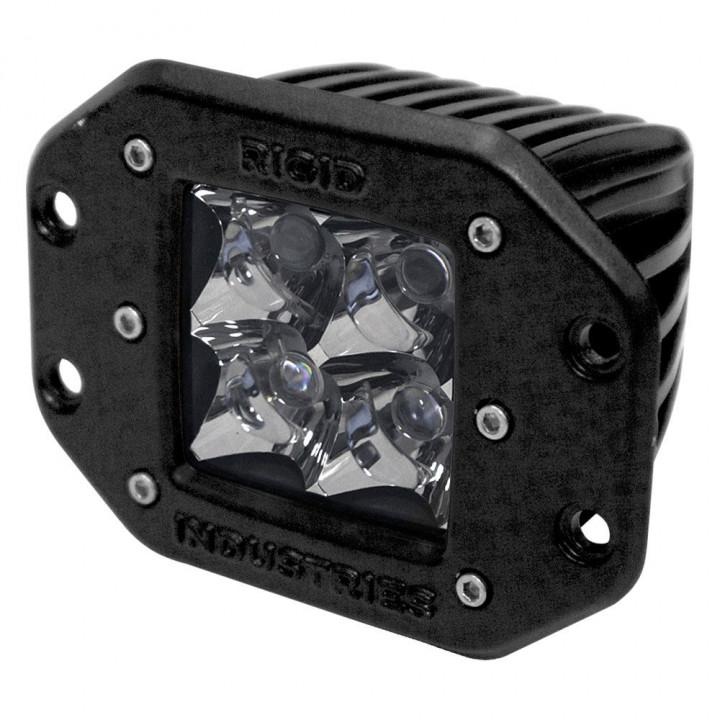 Rigid Industries 21122 - Dually - Flush Mount - Spot - Single - Amber